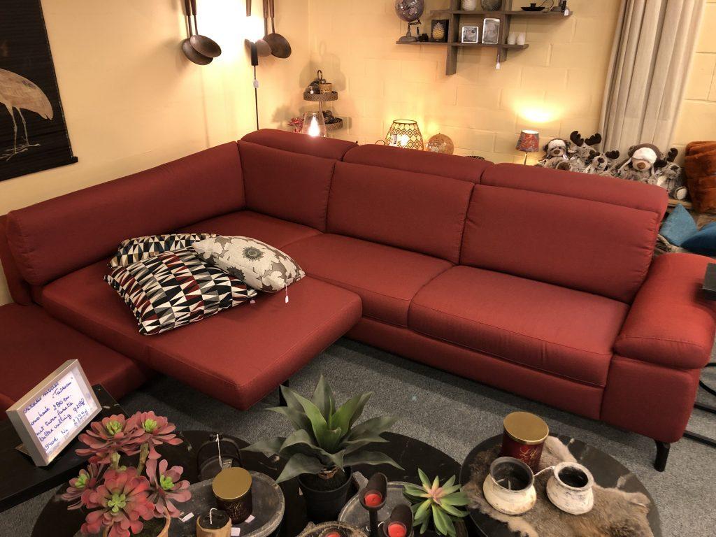 tasman mono hoek hoeksalon zetel sofa verstelbare hoofdsteun q2 stof rohleder turn element bultex